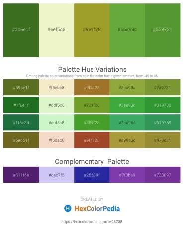 Palette image download - Forest Green – Light Goldenrod Yellow – Olive Drab – Olive Drab – Olive Drab
