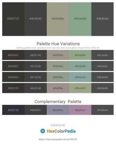 Palette image download - Dim Gray – Dim Gray – Dark Gray – Dark Sea Green – Dark Slate Gray