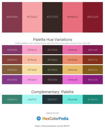 Palette image download - Sienna – Light Coral – Black – Light Coral – Brown