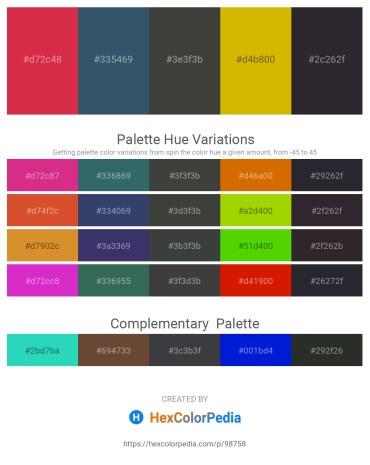 Palette image download - Crimson – Dark Slate Gray – Dim Gray – Orange – Gainsboro