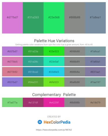 Palette image download - Orchid – Sea Green – Spring Green – Slate Gray – Light Slate Gray
