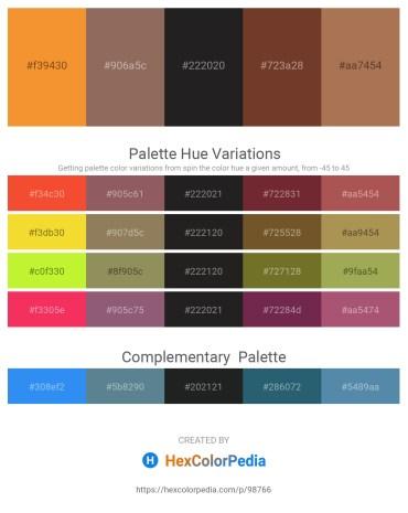 Palette image download - Sandy Brown – Dim Gray – Black – Sienna – Chocolate
