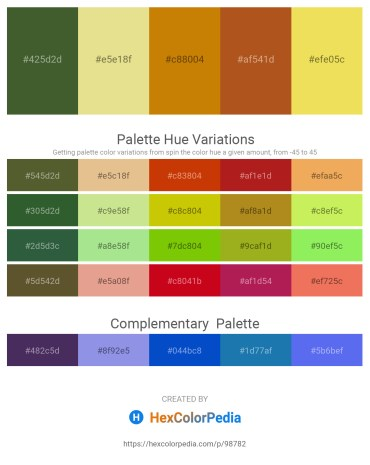 Palette image download - Dark Olive Green – Pale Goldenrod – Dark Goldenrod – Chocolate – Khaki