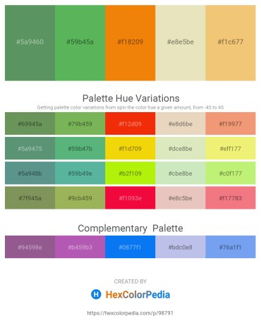 Palette image download - Dark Olive Green – Medium Sea Green – Dark Orange – Beige – Khaki