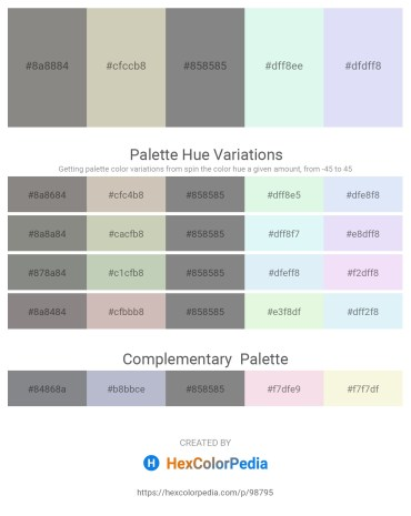 Palette image download - Gray – Silver – Gray – Pale Turquoise – Lavender