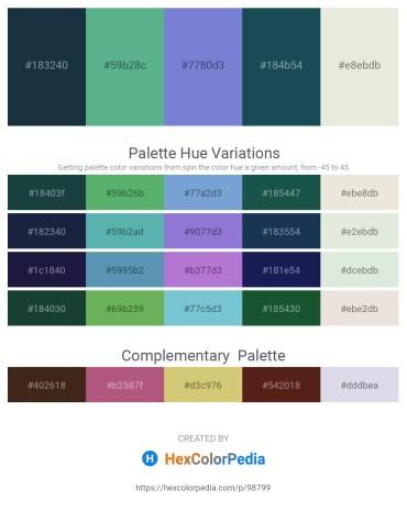 Palette image download - Dark Slate Gray – Cadet Blue – Slate Blue – Sienna – Beige