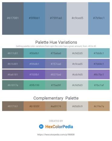 Palette image download - Slate Gray – Steel Blue – Light Slate Gray – Light Steel Blue – Cadet Blue