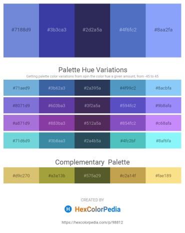 Palette image download - Medium Purple – Dark Slate Blue – Dark Slate Blue – Steel Blue – Light Sky Blue