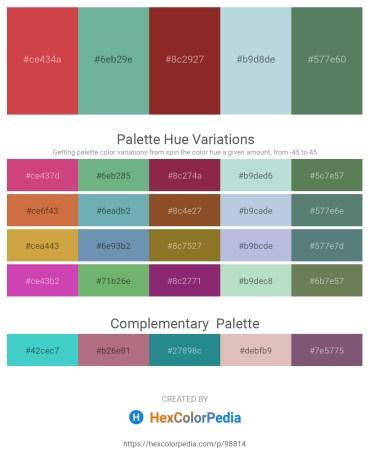Palette image download - Indian Red – Cadet Blue – Brown – Light Steel Blue – Cadet Blue