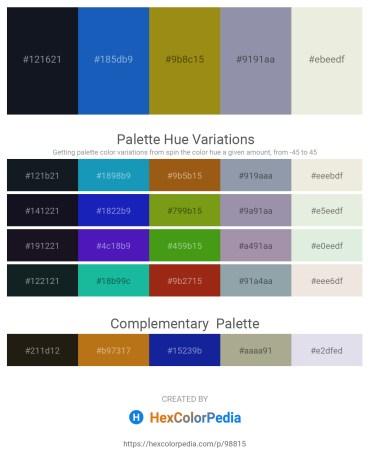 Palette image download - Dark Slate Gray – Royal Blue – Dark Goldenrod – Light Slate Gray – Beige