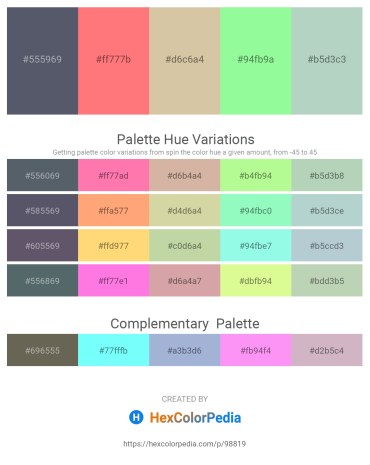 Palette image download - Slate Gray – Salmon – Tan – Pale Green – Dark Sea Green