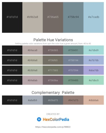 Palette image download - Black – Dark Gray – Dim Gray – Light Slate Gray – Light Steel Blue