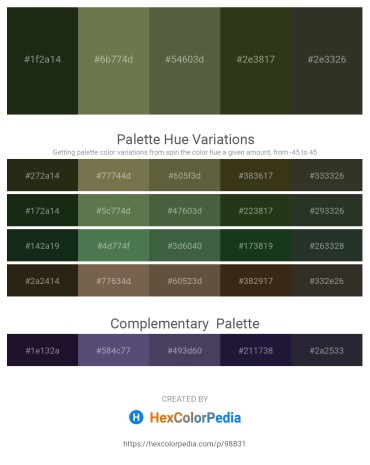 Palette image download - Dark Slate Gray – Dark Olive Green – Dark Olive Green – Dark Olive Green – Dark Slate Gray