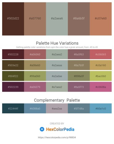Palette image download - Slate Blue – Rosy Brown – Dark Sea Green – Dim Gray – Indian Red