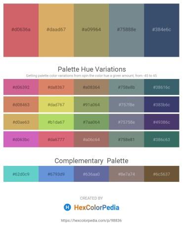 Palette image download - Indian Red – Burlywood – Dark Khaki – Slate Gray – Dark Slate Gray