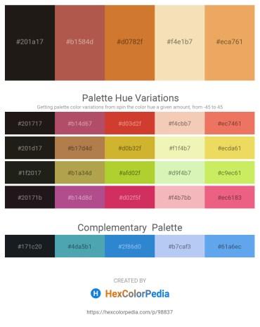 Palette image download - Black – Indian Red – Peru – Wheat – Sandy Brown