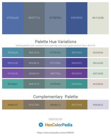 Palette image download - Steel Blue – Slate Gray – Light Slate Gray – Dark Slate Blue – Gainsboro