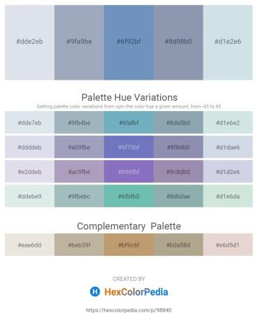 Palette image download - Light Steel Blue – Light Slate Gray – Steel Blue – Light Slate Gray – Light Steel Blue