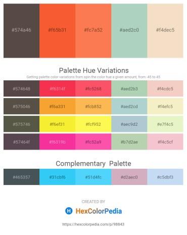 Palette image download - Dim Gray – Tomato – Coral – Dark Sea Green – Wheat