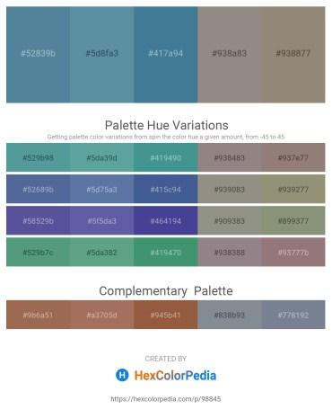 Palette image download - Cadet Blue – Cadet Blue – Steel Blue – Gray – Gray