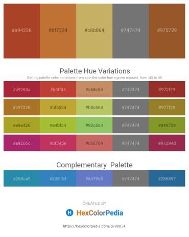 Palette image download - Brown – Peru – Dark Khaki – Dim Gray – Sienna