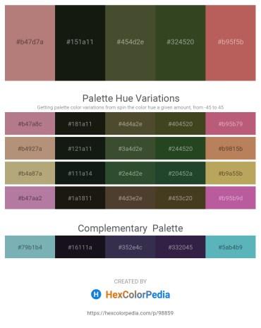 Palette image download - Rosy Brown – Black – Dark Olive Green – Dark Olive Green – Indian Red