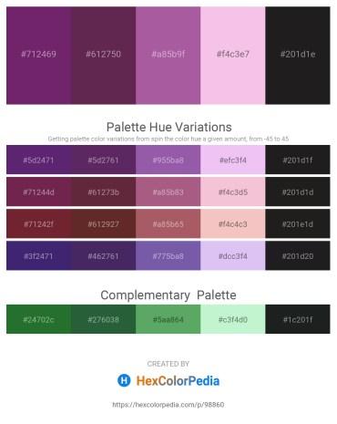 Palette image download - Dark Orchid – Medium Orchid – Gray – Violet – Black