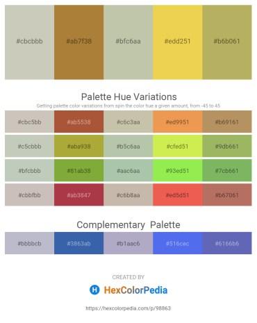 Palette image download - Silver – Peru – Dark Sea Green – Dark Khaki – Dark Khaki