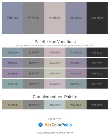 Palette image download - Light Slate Gray – Gray – Silver – Light Slate Gray – Black