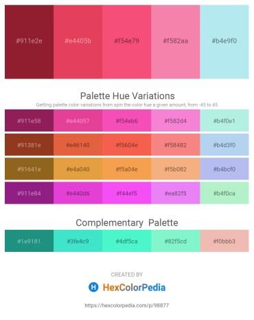Palette image download - Brown – Crimson – Salmon – Light Coral – Pale Turquoise