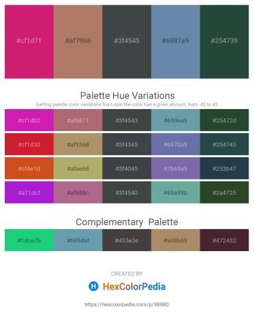 Palette image download - Medium Violet Red – Rosy Brown – Dark Slate Gray – Cadet Blue – Dark Slate Gray
