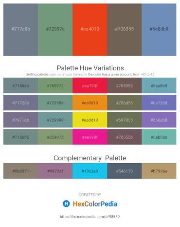 Palette image download - Slate Gray – Cadet Blue – Chocolate – Dim Gray – Cadet Blue