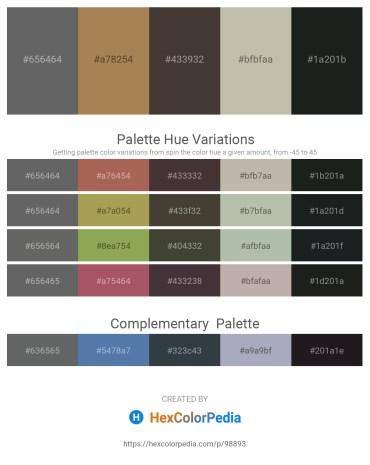 Palette image download - Dim Gray – Dark Khaki – Dim Gray – Silver – Dark Slate Gray