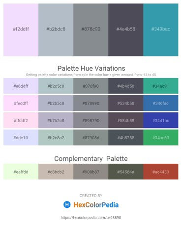 Palette image download - Ghost White – Light Steel Blue – Light Slate Gray – Dark Slate Gray – Steel Blue