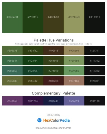 Palette image download - Dark Olive Green – Olive Drab – Dark Olive Green – Dark Khaki – Black
