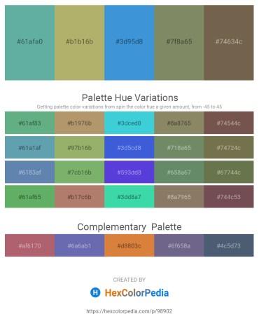 Palette image download - Cadet Blue – Dark Khaki – Royal Blue – Gray – Dim Gray