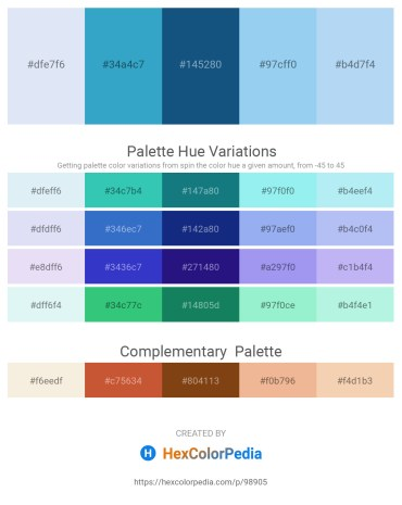 Palette image download - Lavender – Medium Turquoise – Tomato – Sky Blue – Pale Turquoise