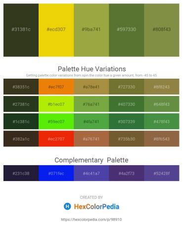 Palette image download - Dark Olive Green – Gold – Yellow Green – Dark Olive Green – Dark Olive Green