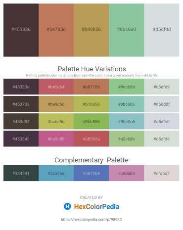 Palette image download - Dark Slate Blue – Indian Red – Dark Khaki – Dark Sea Green – Light Steel Blue