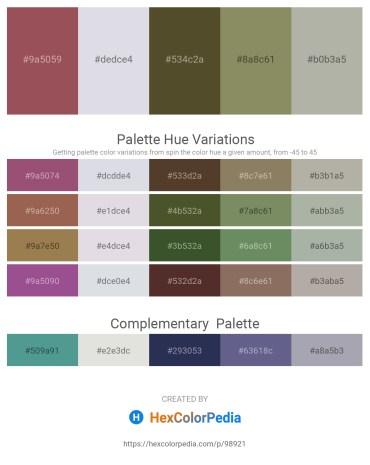Palette image download - Indian Red – Light Steel Blue – Dark Olive Green – Gray – Dark Gray