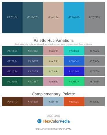 Palette image download - Midnight Blue – Dark Slate Gray – Rosy Brown – Light Sea Green – Slate Gray