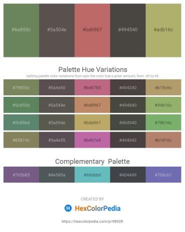 Palette image download - Dark Olive Green – Dim Gray – Indian Red – Dim Gray – Dark Khaki