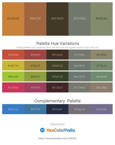 Palette image download - Peru – Sienna – Peru – Dim Gray – Gray