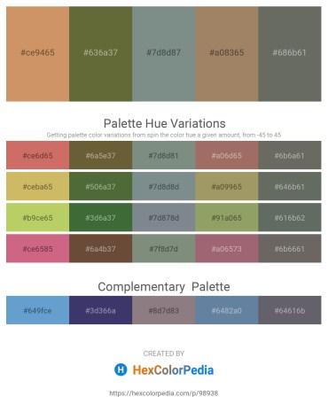 Palette image download - Peru – Dark Olive Green – Slate Gray – Rosy Brown – Dim Gray