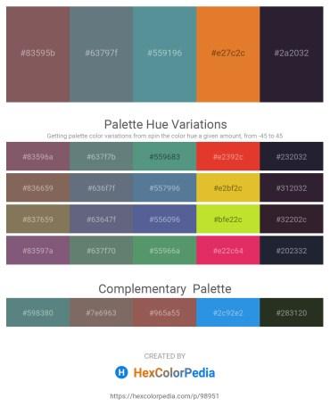 Palette image download - Dim Gray – Slate Gray – Cadet Blue – Chocolate – Sky Blue