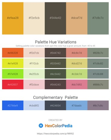 Palette image download - Goldenrod – Beige – Dim Gray – Burlywood – Slate Gray
