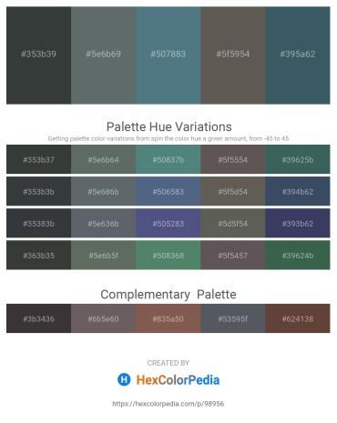 Palette image download - Dark Slate Gray – Slate Gray – Cadet Blue – Dim Gray – Dark Slate Gray