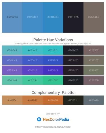 Palette image download - Steel Blue – Steel Blue – Steel Blue – Cadet Blue – Dim Gray