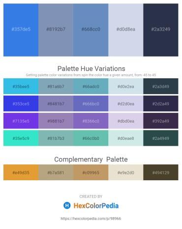 Palette image download - Royal Blue – Light Slate Gray – Steel Blue – Light Steel Blue – Dark Slate Gray