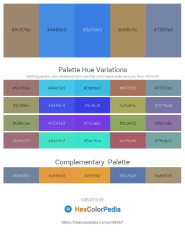 Palette image download - Rosy Brown – Royal Blue – Royal Blue – Dark Khaki – Light Slate Gray